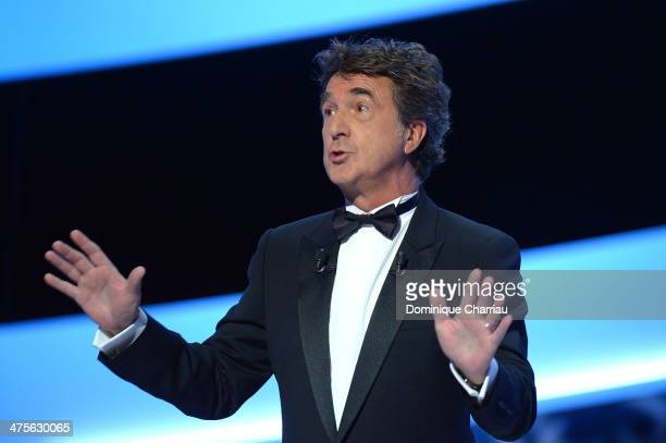 Ceremony host actor Francois Cluzet speaks on stage during the 39th Cesar Film Awards 2014 at Theatre du Chatelet on February 28 2014 in Paris France