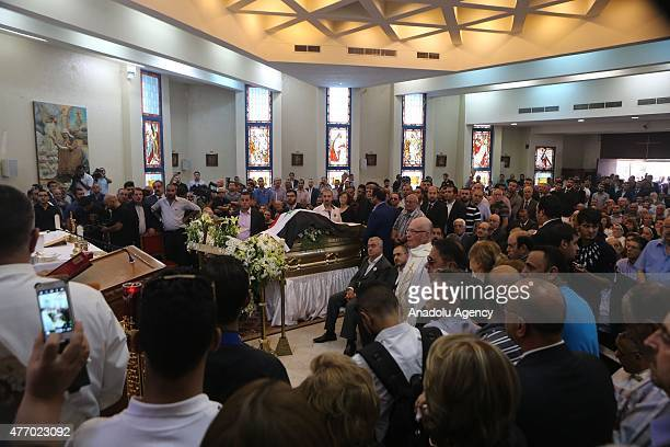 A ceremony is held at a church in Tariq Aziz's honor before his burial in Amman Jordan on June 13 2015 Tariq Aziz former deputy prime minister and...