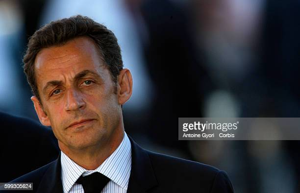 Ceremony marking the first day of France's sixmonth presidency of the European Union French President Nicolas Sarkozy during ceremony at The Arc de...