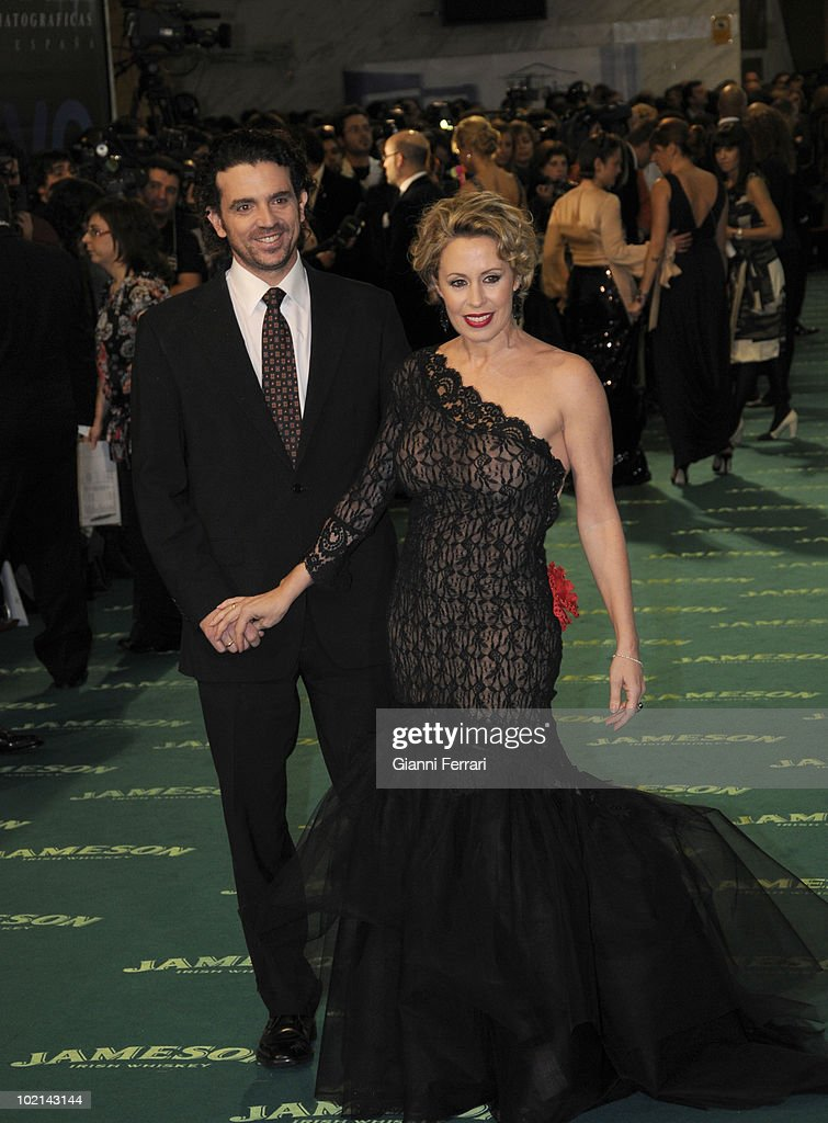 Ceremony of delivery of the cinematographic prizes 'Goya 2009', the actress Miriam Diaz Aroca and his husband, First February 2009, 'Palacio Municipal de Congresos', Madrid, Spain,.
