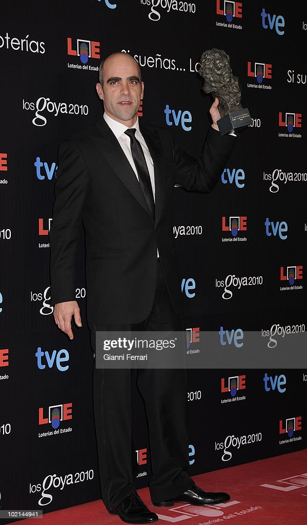 Ceremony of delivery of the cinematographic prizes 'Goya 2010', Luis Tosar with the 'Goya' as the best actor protagonist for the movie 'Celda 211 ', 14th February 2010, 'Palacio Municipal de Congresos', Madrid, Spain.