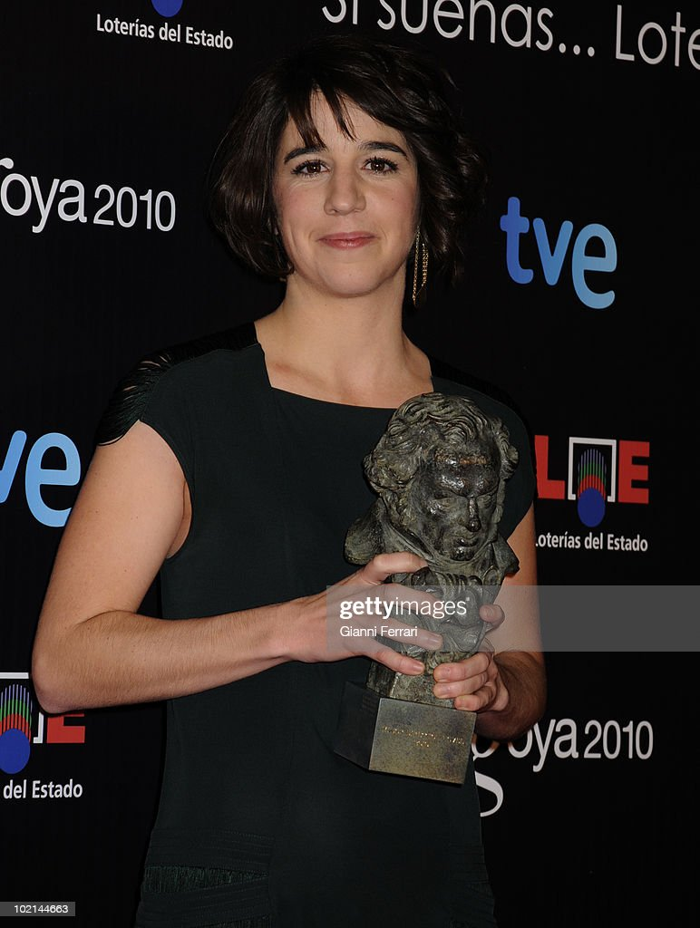 Ceremony of delivery of the cinematographic prizes 'Goya 2010', Mar Coll with the 'Goya' of te best new director for the movie 'Tres dies amb la familia', 14th February 2010, 'Palacio Municipal de Congresos', Madrid, Spain.
