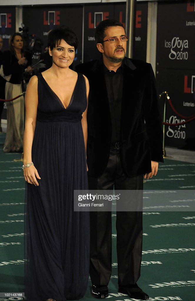 Ceremony of delivery of the cinematographic prizes 'Goya 2010', the actress Silvia Abril and the humorist Andreu Buenafuente, 14th February 2010, 'Palacio Municipal de Congresos', Madrid, Spain.