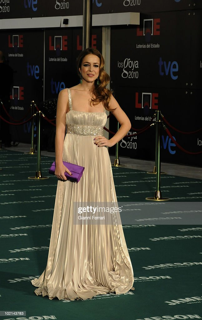 Ceremony of delivery of the cinematographic prizes 'Goya 2010', the actress Silvia Abascal, 14th February 2010, 'Palacio Municipal de Congresos', Madrid, Spain.