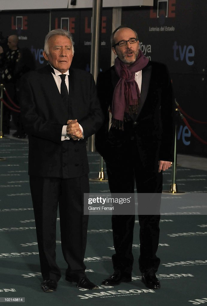 Ceremony of delivery of the cinematographic prizes 'Goya 2010', the actors Fernando Guillen and Fernando Guillen Cuervo, 14th February 2010, 'Palacio Municipal de Congresos', Madrid, Spain.