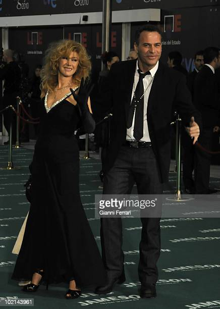 Ceremony of delivery of the cinematographic prizes 'Goya 2010' the the actress Victoria Vera and the TV presenter Carlos Lozano 14th February 2010...