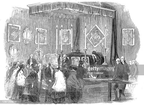 Ceremony of lying in state at the Ranger's House, on Monday last, December 1844. Arrangements for the funeral of Princess Sophia of Gloucester,...
