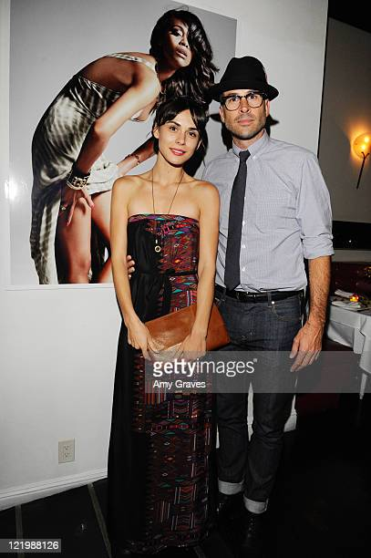 Ceren Alkac and Jason Lee attend the Flaunt Magazine and Gypsy 05 Present The NeoGolden Age Hosted by Zoe Saldana at Philippe Chow on August 19 2011...