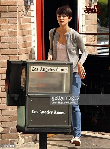 Ceren Alkac is seen in Los Feliz on March 30 2010 in Los Angeles California
