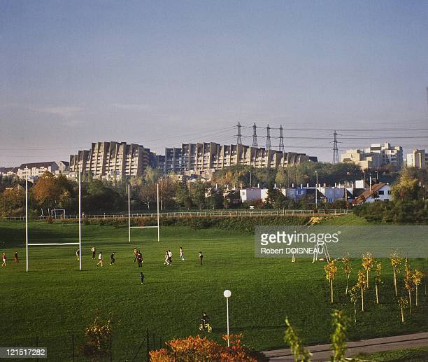 Cergy Pontoise Justice Mauve Council Estate And Playground October 1984