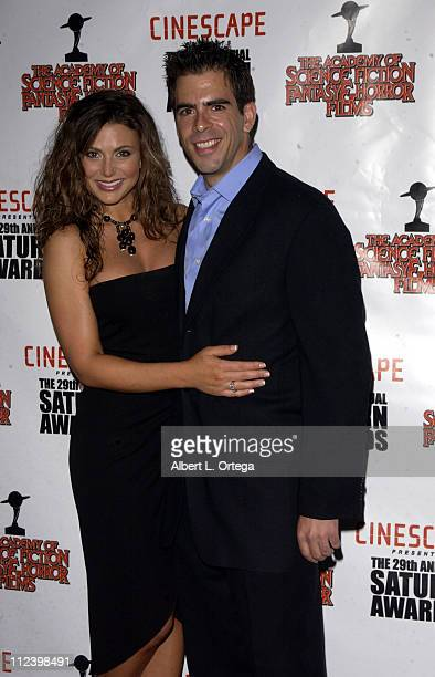 Cerina Vincent and Eli Roth during The 29th Annual Saturn Awards By The Academy Of Science Fiction Fantasy And Horror Arrivals at Renaissance Hotel...