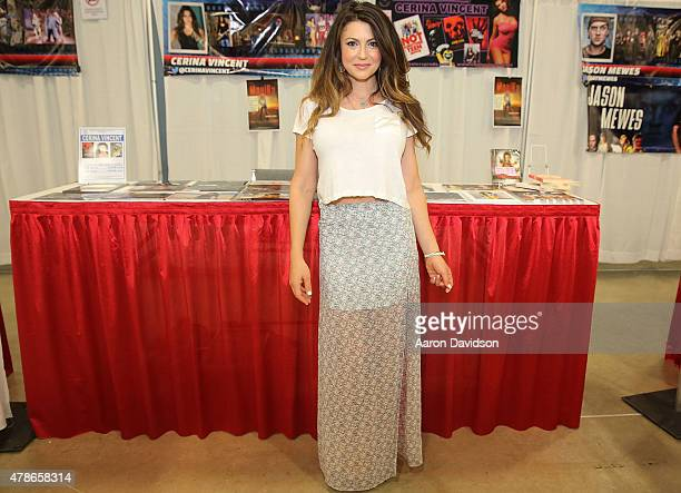 Cerina Vincent attends Florida Supercon at the Miami Beach Convention Center on June 26 2015 in Miami Beach Florida