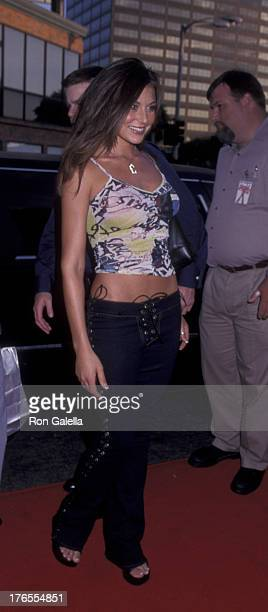 Cerina Vincent attends the world premiere of 'American Pie 2' on August 6 2001 at Mann National Theater in Westwood California