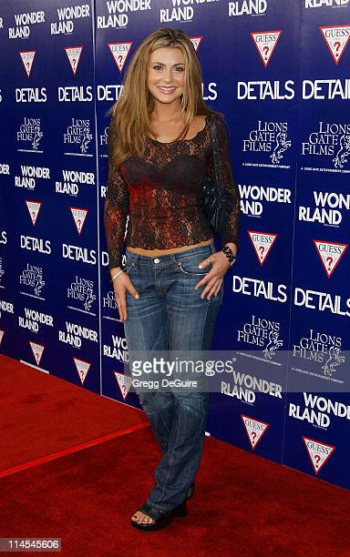Cerina Vincent during Wonderland Premiere hosted by DETAILS GUESS Arrivals at Grauman's Chinese Theatre in Hollywood California United States