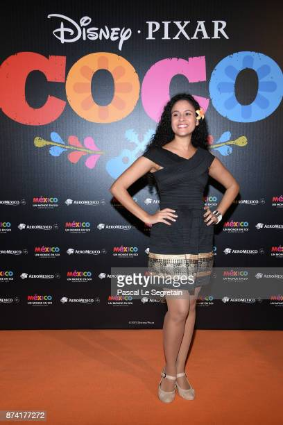 Cerise Calixte attends the 'Coco' Paris Special Screening at Le Grand Rex on November 14 2017 in Paris France