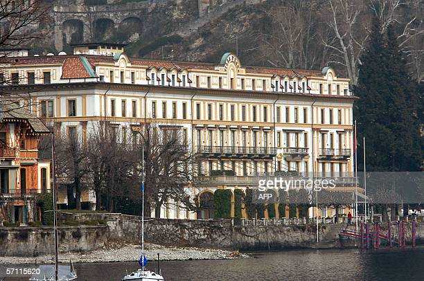 Picture taken 17 March 2006 of the luxurious Villa D'Este hotel situated along the shores of Italy's Lake Como in Cernobbio US film stars Brad Pitt...