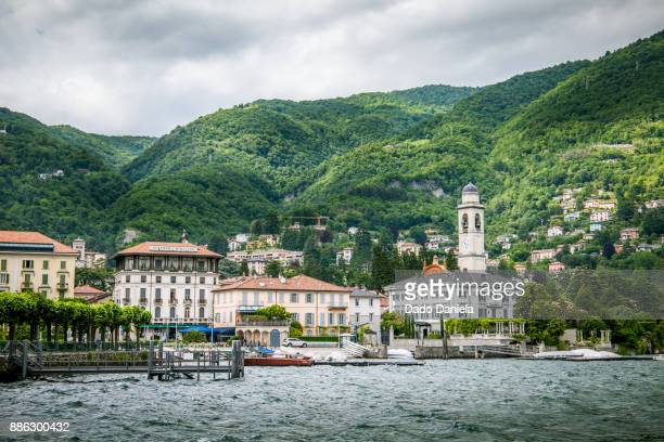 cernobbio town - lombardy stock pictures, royalty-free photos & images
