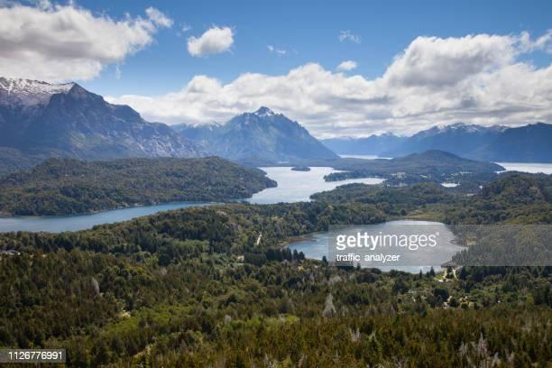 cerro campanario, san carlos de bariloche, argentina - bariloche stock pictures, royalty-free photos & images