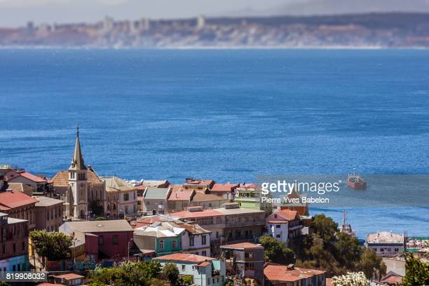 cerro concepcion of valparaiso - vina del mar stock pictures, royalty-free photos & images
