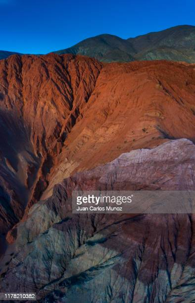 cerro de los siete colores, purmamarca, valles y quebradas, aerial view, argentina, south america, america - siete stock pictures, royalty-free photos & images