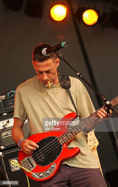Certain Ratio perform during the first day of the Big Chill music festival at Eastnor Castle Deer Park in the Malvern Hills on August 5 2005 in...