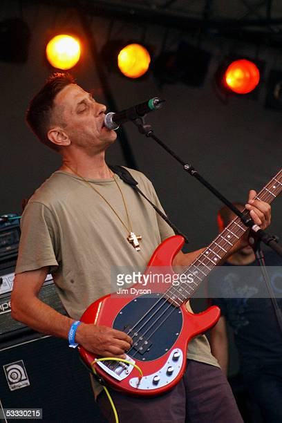 Certain Ratio perform on the Open Air stage during the first day of the Big Chill music festival at Eastnor Castle Deer Park in the Malvern Hills on...