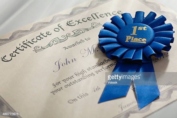 certificate ribbon stock photos and pictures getty images