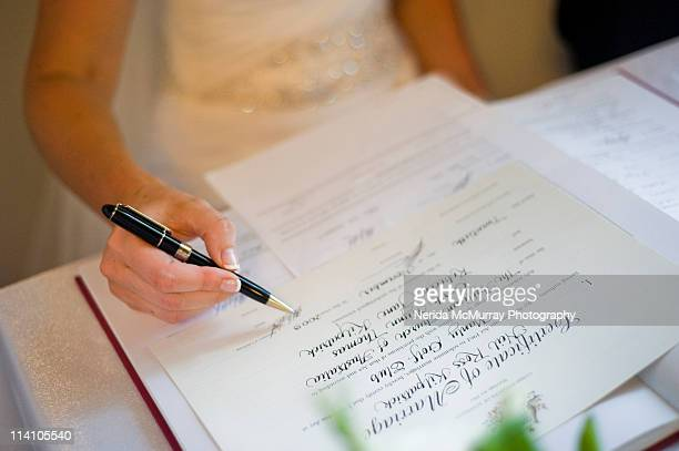 Marriage Certificate Stock Photos And Pictures