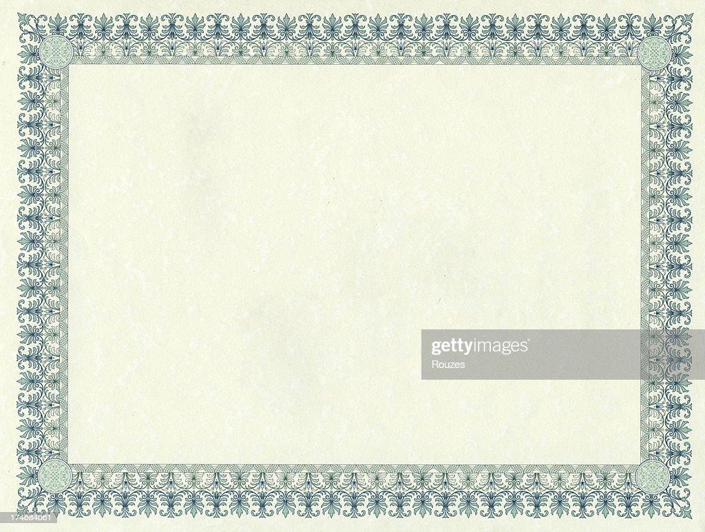 Certificate : Stock Photo