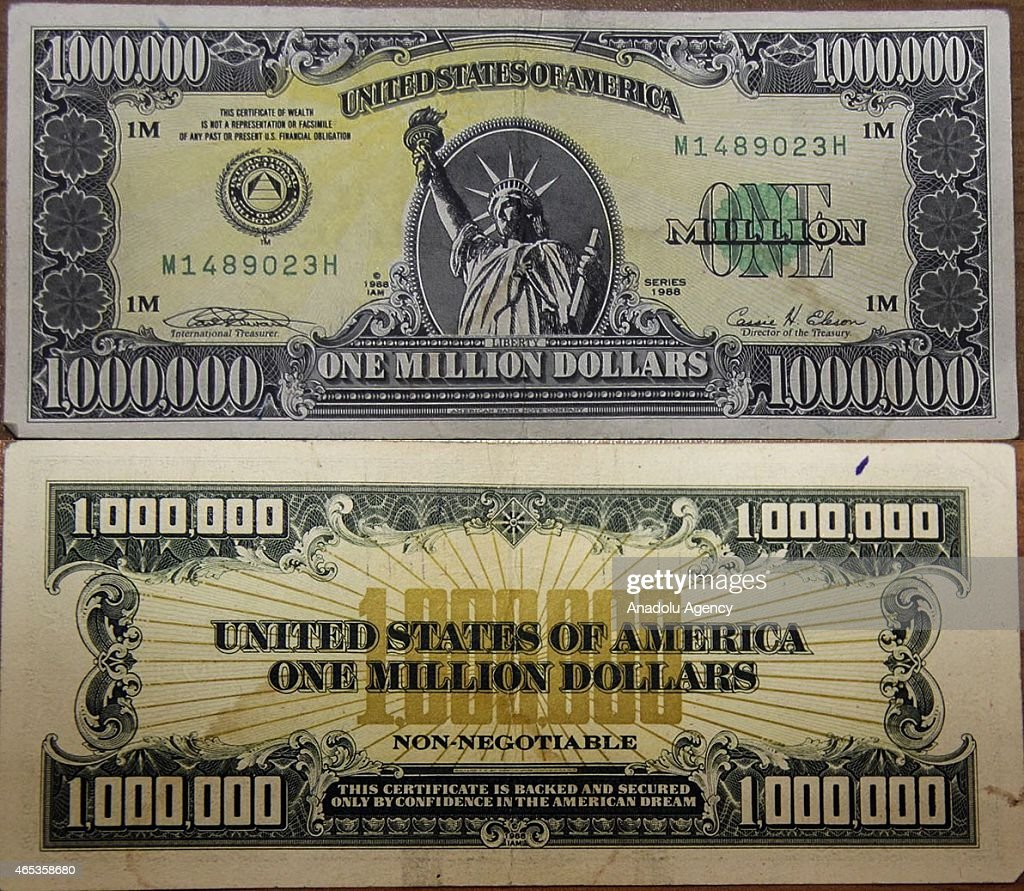picture relating to Fake Million Dollar Bill Printable named Just one Million Greenback Monthly bill High quality Images, Visuals, Photographs