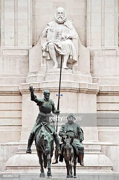 Cervantes monument in the Plaza de Espana