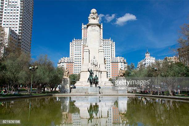 Cervantes Monument, Plaza de Espana, Madrid