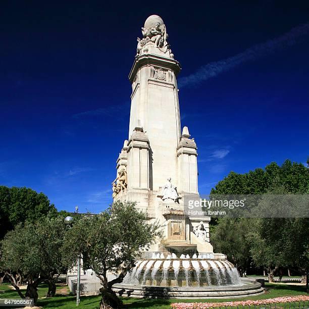 Cervantes Monument, Plaza de Espana, Madrid, Spain