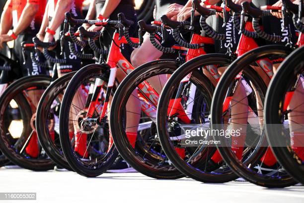 Cervelo Bike / DuraAce Wheels / Team Sunweb of Germany / Detail view / during the 106th Tour de France 2019 Team Presentation / Brussels Grand Départ...