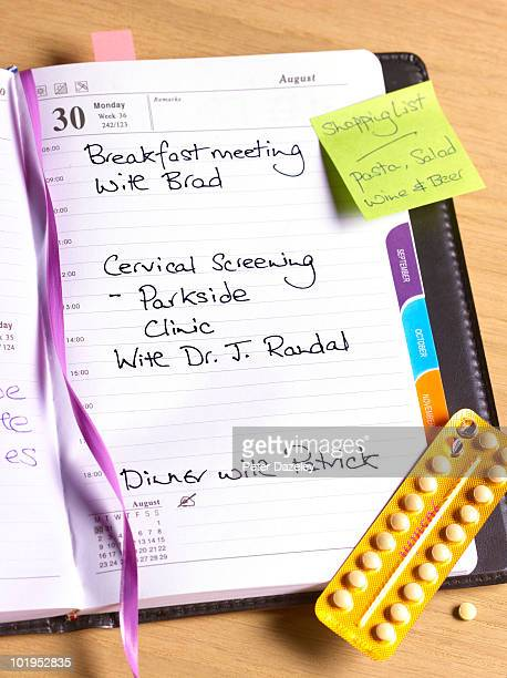 Cervical screening diary entry