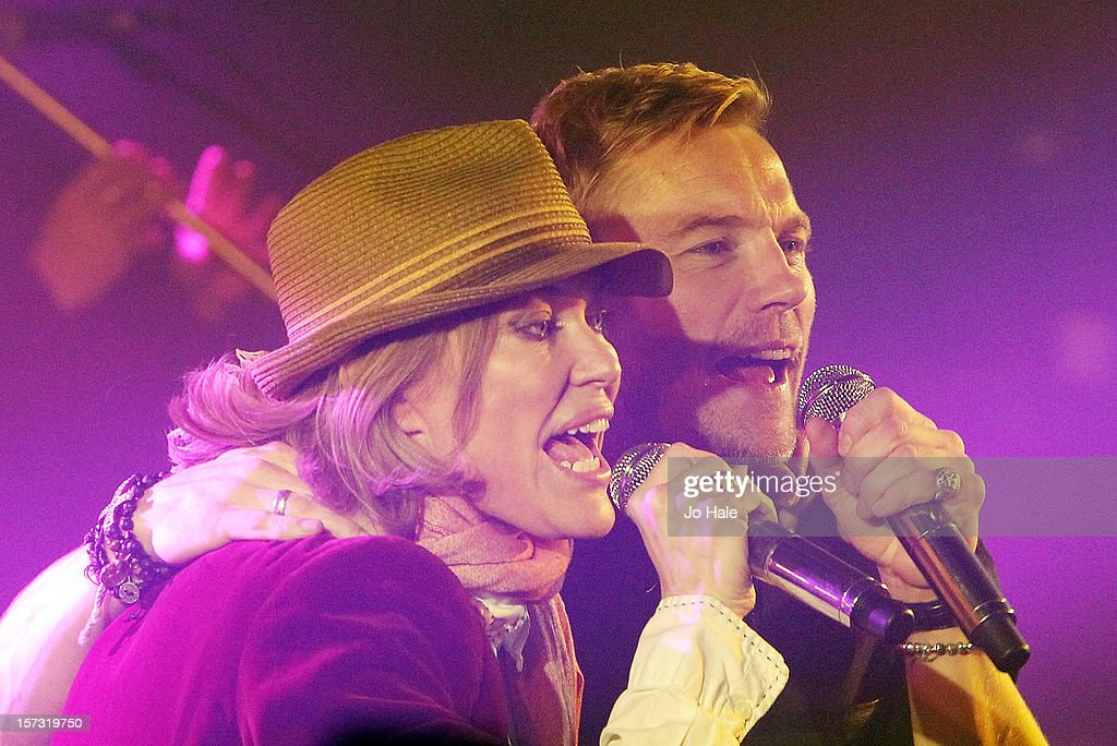 Cerys Matthews and Ronan Keating perform at The Emeralds and Ivy Ball on December 1, 2012 in London, England.