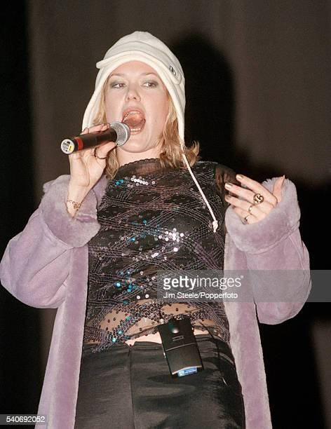 Cerys Matthews of Catatonia performing on stage during the NetAid Concert held at Wembley Stadium in London on the 9th October 1999