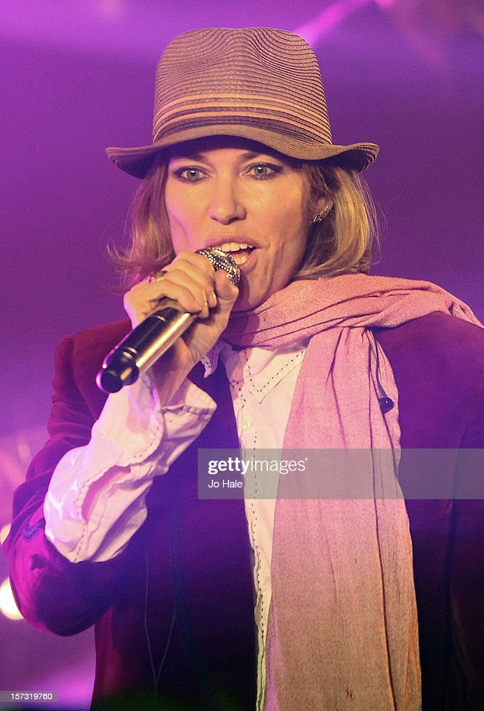 Cerys Matthews performs at The Emeralds and Ivy Ball on December 1, 2012 in London, England.