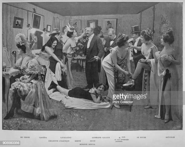 'Ces Dames S'Amusent' 1900 From Le Panorama Paris la Nuit No 1 [Librairie D'Art Ludovic Baschet editeur Paris 1900] Artist Unknown