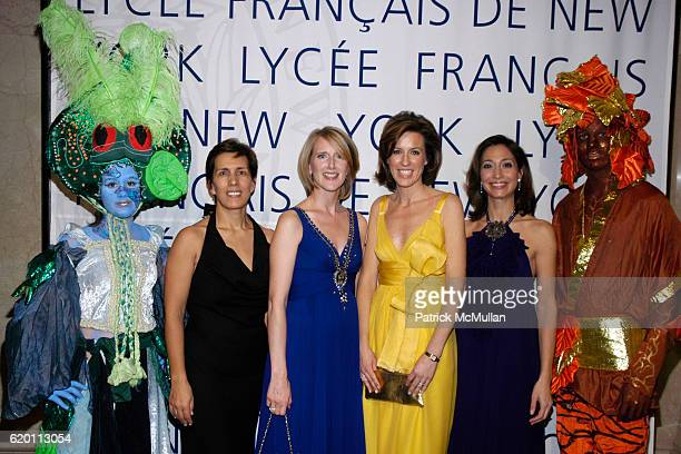 Cesaltine Gregorio Jennifer Banks Oughourlian Melissa Meeschaert and Alison Levasseur attend LA VIE EN VERT GALA 2008 Lycee Francais de New York at...