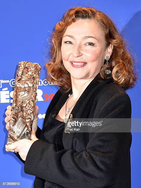 Cesar 2016 awarded Catherine Frot attends the Dinner at Le Fouquet' after the Cesar Film Awards 2016 on February 26 2016 in Paris France Ê