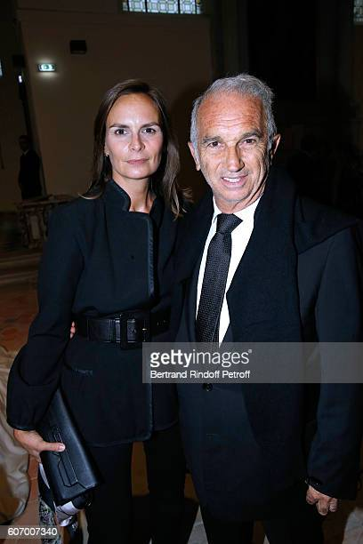 Cesar Academy President Alain Terzian and his wife Brune de Margerie attend the 4O Rue de Sevres Preview at the Head Offices of Both Kering and...