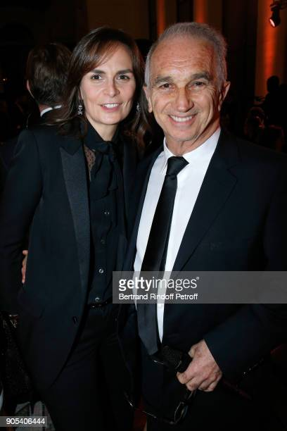 Cesar Academy President Alain Terzian and his wife Brune de Margerie attend the 'Cesar Revelations 2018' Party at Le Petit Palais on January 15 2018...