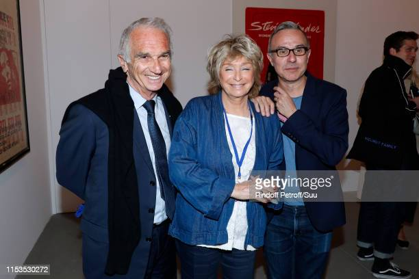 Cesar Academy President Alain Terzian, Director Daniele Thompson and writer Philippe Besson attend Albert Koski exposes its Rock&Roll Posters...