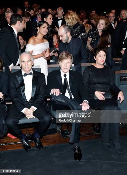 Cesar Academy President Alain Terzian Honorific Cesar Robert Redford Sibylle Szaggars and Leila Bekhti attend the Cesar Film Awards 2019 at Salle...
