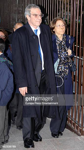 Cesar Alierta attends the funeral for Irene Vazquez wife of ex minister of Justice Jose Maria Michavila and legal advisor of Shakira and Alejandro...