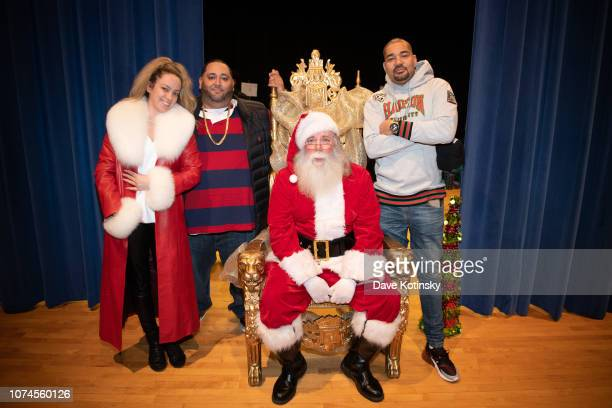 Cesar and DJ Envy arrive at Cesar DJ Envy's 2018 Holiday Toy Giveaway on December 21 2018 in Paterson New Jersey