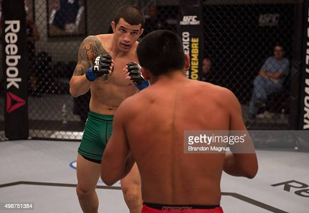 Cesar Arsamendia circles Enrique Barzola in their semifinals fight during the filming of The Ultimate Fighter Latin America Team Gastelum vs Team...