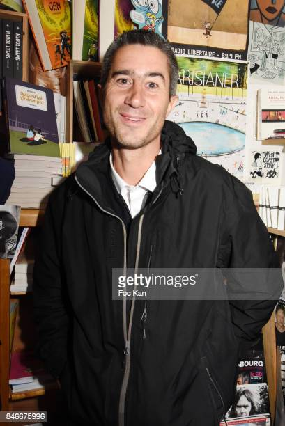 Cesar awarded director director for his documentary 'Merci Patron' Francois Ruffin attends Schnock 21 Magazine Launch at Philippe Le Libraire on...