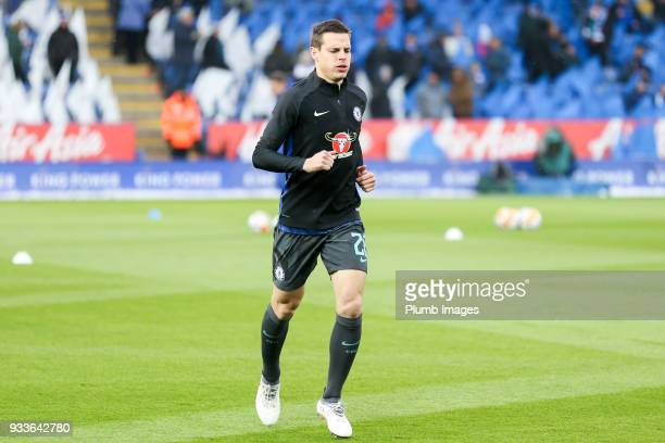 Cesar Azpilicueta of Chelsea ahead of The Emirates FA Cup Quarter Final tie between Leicester City and Chelsea at King Power Stadium on March 18 2018...